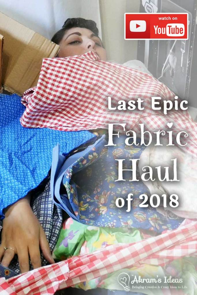 As an early birthday present my husband took me to Joplin, Missouri to do some antiquing and what would become my last epic fabric haul of 2018.