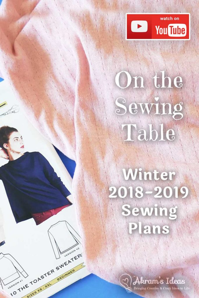"As the month turn colder it's time to share my winter sewing plans in another episode of ""On the Sewing Table""."