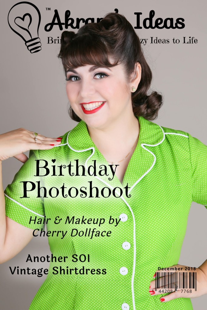 Back in October for my birthday, I had a special Photoshoot done by the one and only Cherry Dollface. Take a look at the photos and hear all about my me-made birthday dress.