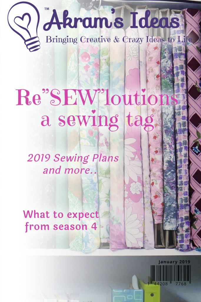 "Kicking off an all-new season of Akram's Ideas with the Re""SEW""loutions tag."