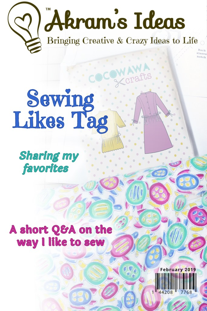I'm taking part in the Sewing Likes Tag, where I share answers regarding my sewing favorites.