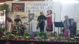 A Saulieu, au concert du soir, nous étions quatre sur scène. Formule réduite mais ambiance garantie dans la salle !