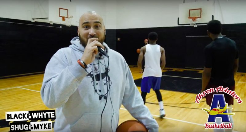 black and whyte with shug and myke - soop dreams - akron aviators tryouts - ABA - pro basketball tryouts