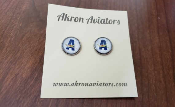 Akron Aviators earrings