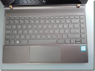 「HP Spectre 13-af000」のキーボード