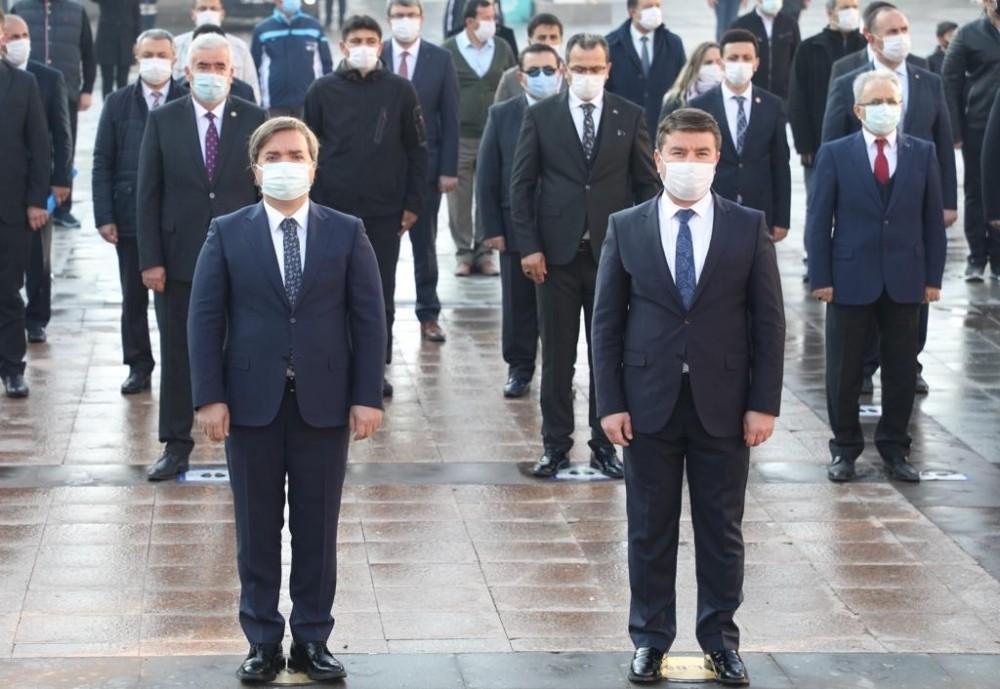 Aksaray'da 10 Kasım Atatürk'ü anma töreni gerçekleştirildi
