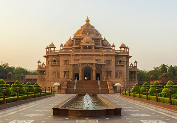 Image result for swaminarayan temple gandhinagar gujarat