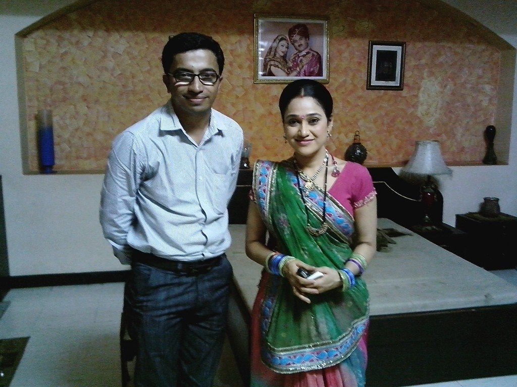 For Aksharnaad Interview With Dishaben Vakani on TMKOC set