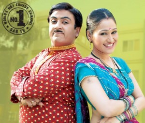 Jethalal and Dayabhabhi in TMKOC (Picture Courtesy SAB TV Facebook Page)