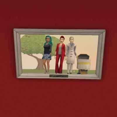 Ein Familienbild der Sims