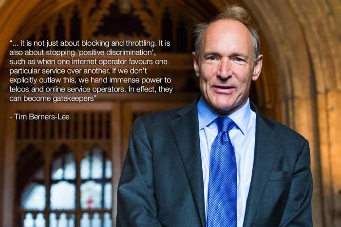 Tim Berners-Lee on net neutrality