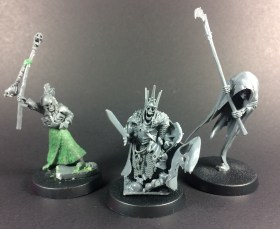 Necromancer, Wight King, Cairn Wraith (L-R)
