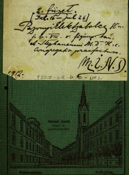 HU MNL OL - P 2215 - 3.h - b. - 0. - № 2: pazonyi Elek Endre ifjúkori naplójának részlete, melyet Pazonyi Elek Szabolcs álnéven írt (1912)