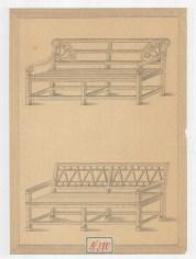 Pad rajza a Festetics család levéltárából, 19. század. MNL OL T 3 – No. 580.