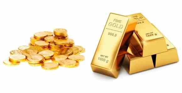 investera i guldmynt och barer