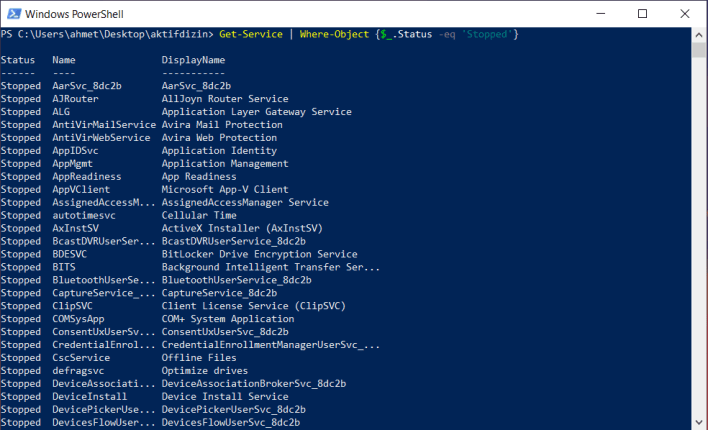 PowerShell Where-Object Komutu | Örnek PowerShell Komutları