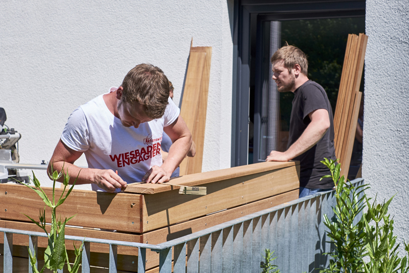Schreinerei Wiesbaden wie in großmutters garten aktionswoche wiesbaden engagiert