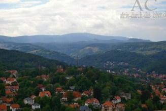 Blick vom Schloss zum Brocken