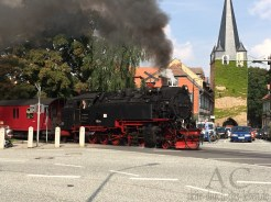Die Harzquerbahn quert die Westerntorkreuzung