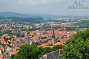 Blick vom Wernigeröder Schloss auf die Bunte Stadt am Harz