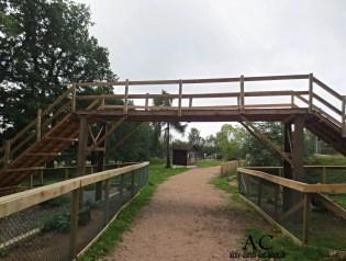 Die Brücke für die Ziegen
