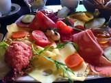 Eine leckere Frühstücksplatte