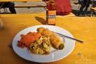 Börek mit Couscous- und Gnocchi-Salat