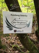 Gut ausgeschilert der Geierlay-Rundweg