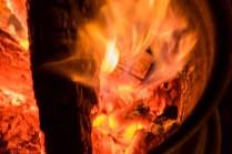 Es wurde schon recht kalt abends, da kamen die Feuerstellen an der Burg gerade richtig