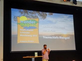Manuel Andrack bei der Preisverleihung zu Deutschlands schönsten Wanderweg