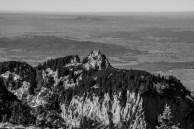 Ein Gipfel, den wir nicht überwanderten. Blick ins Alpenvorland