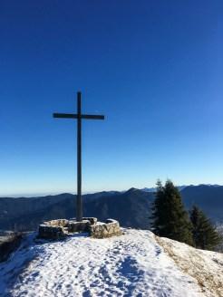 Der Brauneck-Gipfel, 1555m hoch