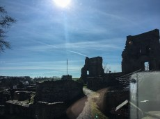 Blick zur Ruine