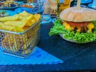 """Mein """"Wilder Burger"""" mit Staek-Pommes"""