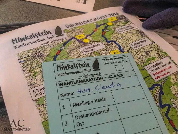 Hinkelsteinweg Wandermarathon Unterlagen