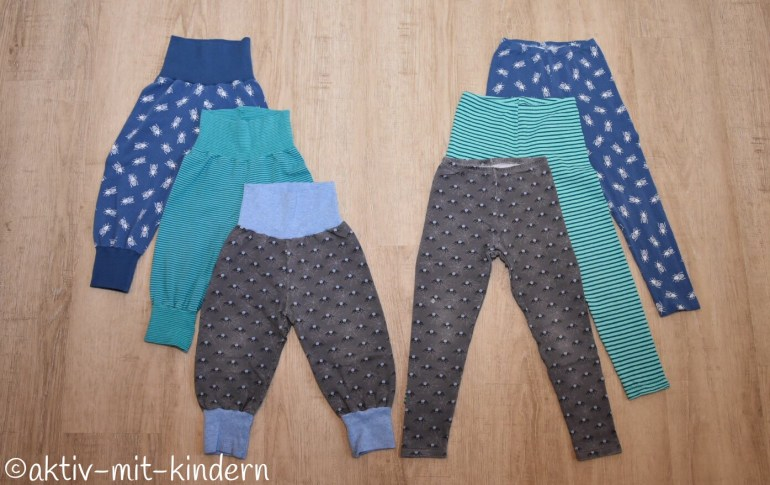 Selbstgenähte Pumphosen und Leggings für Kinder Partnerlook Klimperklein Pattydoo