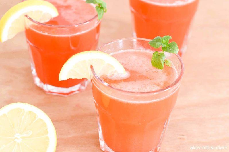 Rezept für selbst hergestellte Limonade