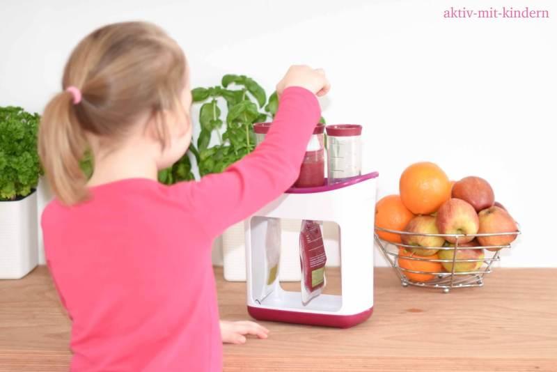 Frucht Quetschten selbst herstellen
