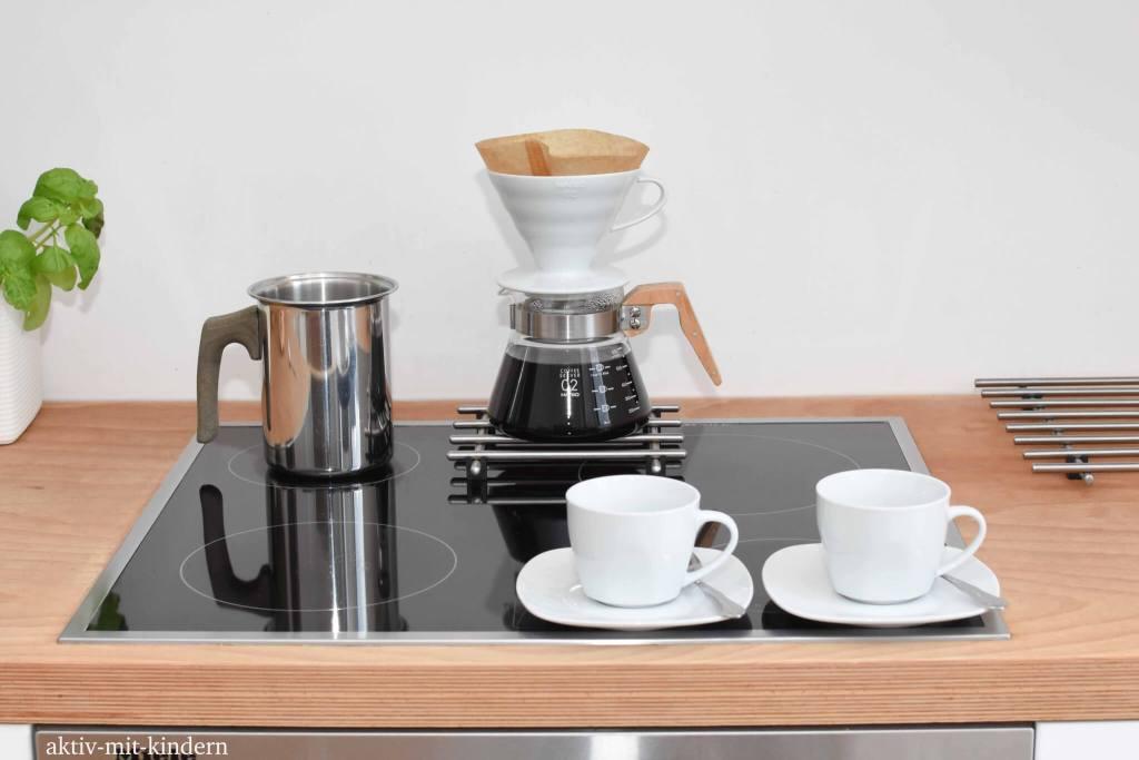 Kaffeefilter aus Porzellan sowie plastikfreie Kaffeemaschine