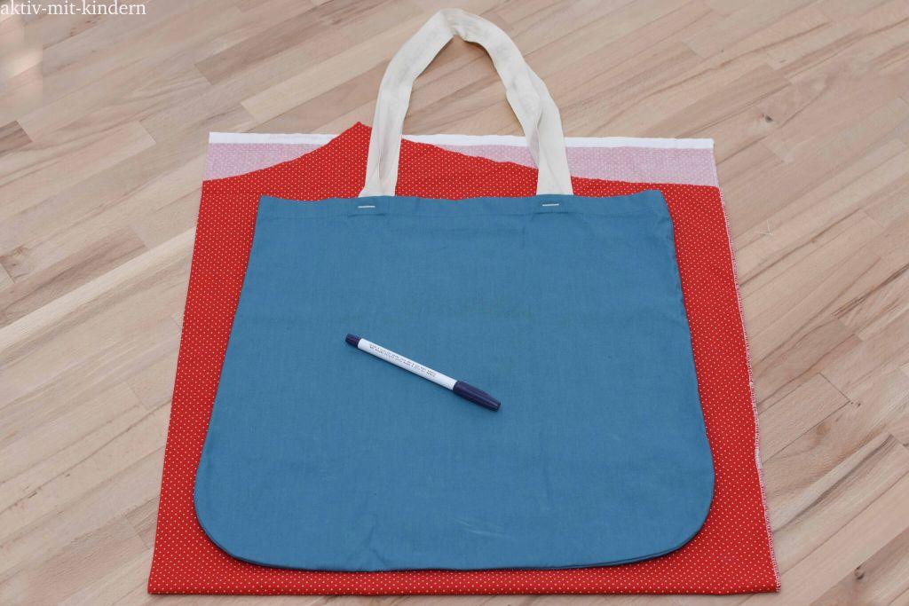Tutorial für eine selbstgenähte Stofftasche