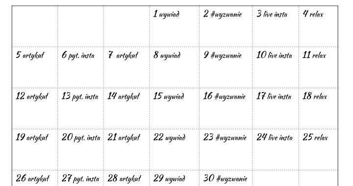 kalendarz listopad aktorembyc