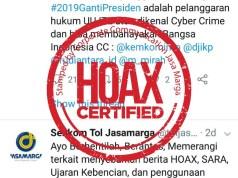 Akun Hoax Jasa Marga