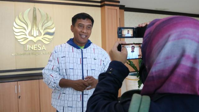 Rektor Universitas Negeri Surabaya Prof.Dr. Nurhasan (Foto: Liputan6./Dian Kurniawan)