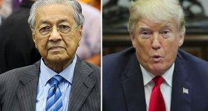 Perdana Menteri Dr Mahathir Mohamad mendesak Presiden AS Donald Trump melatak jawatan.
