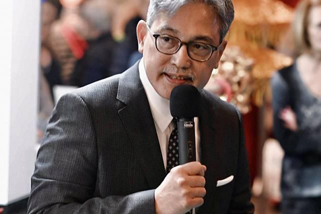 Dubes Indonesia di Brusel, Yuri O. Thamrin dalam pembukaan Paviliun Wonderful Indonesia, Kamis (6/2) mengatakan Indonesia merupakan destinasi wisata wajib untuk dikunjungi. (HO/Nathan Ishar)