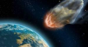 Ilustrasi asteroid menghantam Bumi. (Shutterstock)