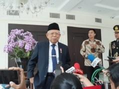 Wakil Presiden Maruf Amin di Kantor Wakil Presiden, Jakarta.