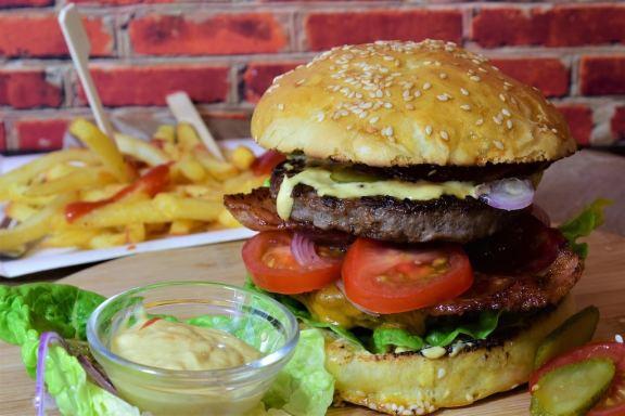 domácí hamburger