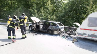 Photo of PKW geriet auf der A7 in Hausbruch in Brand