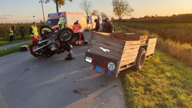 Photo of 78-jähriger Fahrer eines Motorradgespanns bei Unfall schwer verletzt